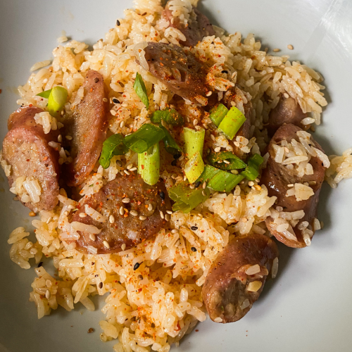 Sausage Cajun Fried Rice