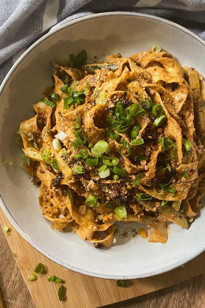 Spicy Peanut Noodles (10 minutes)