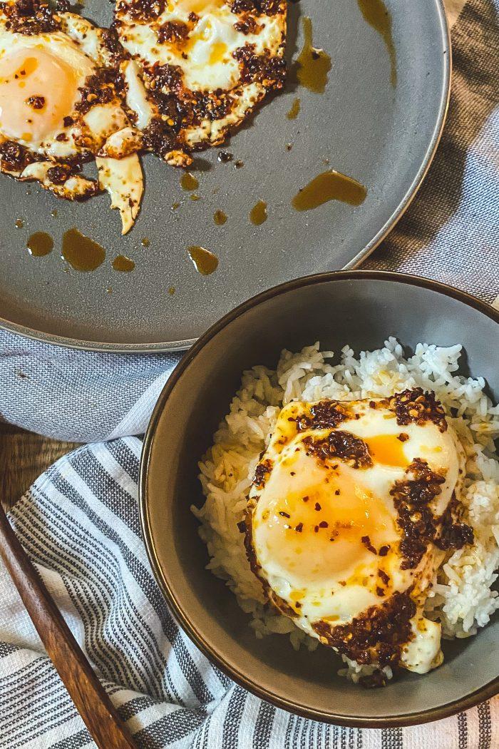Chili Oil Fried Eggs