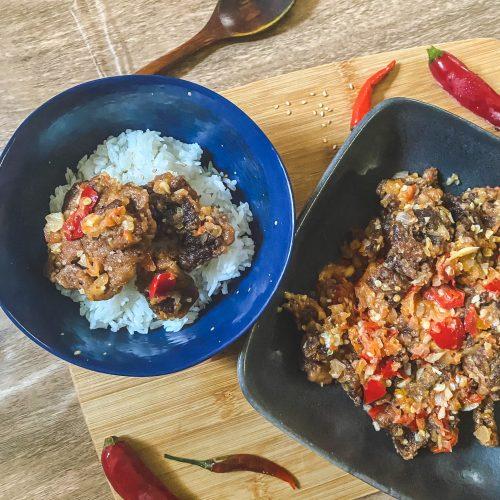Malaysian Daging Goreng Berlada Spicy Fried Beef