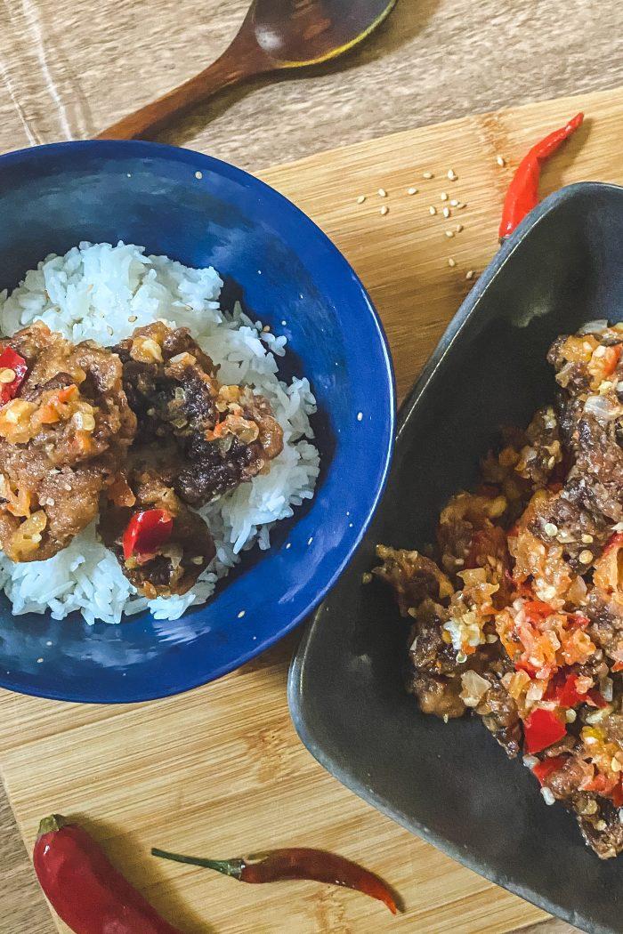 Spicy Fried Beef (Daging Goreng Berlada)