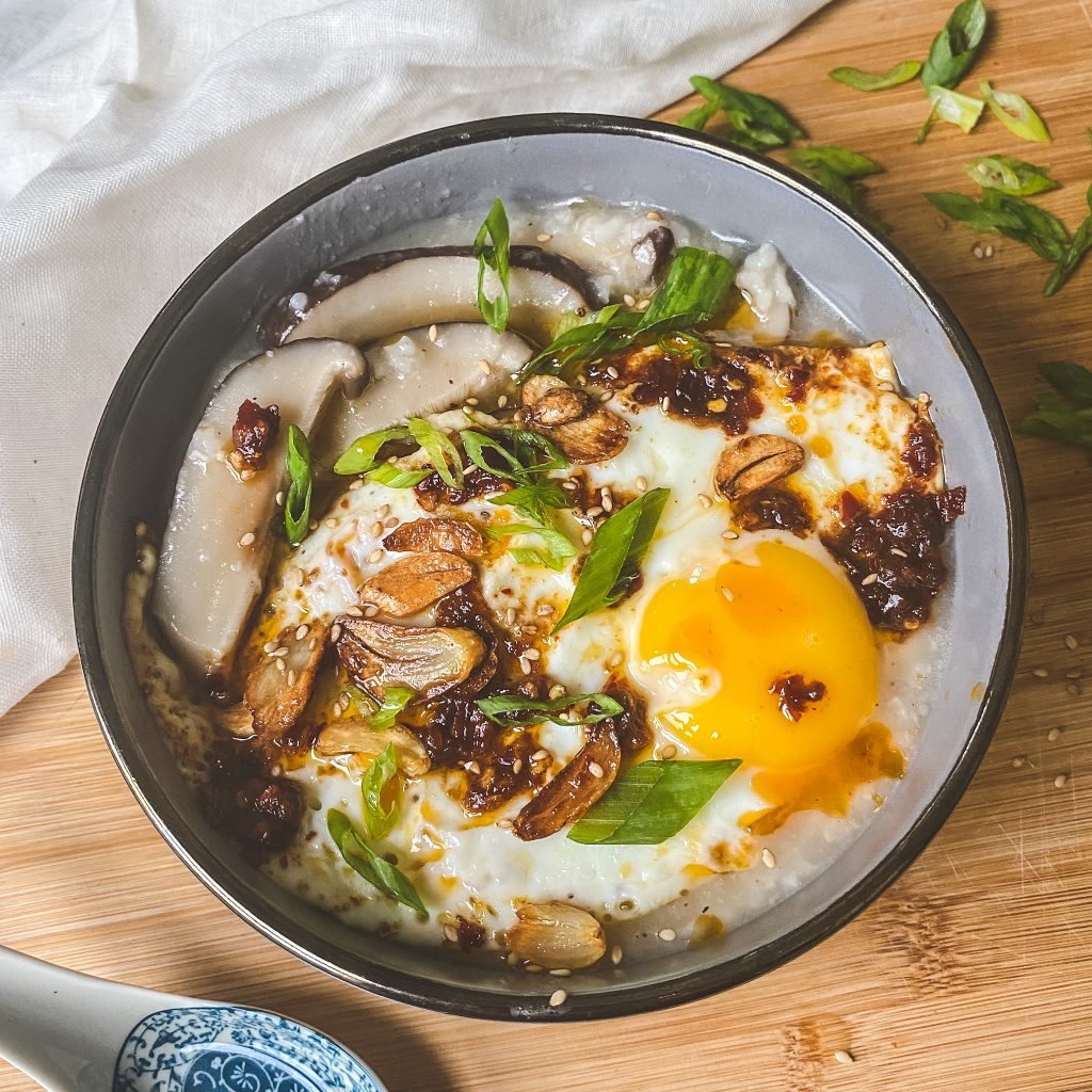 shiitake mushroom congee/rice porridge easy