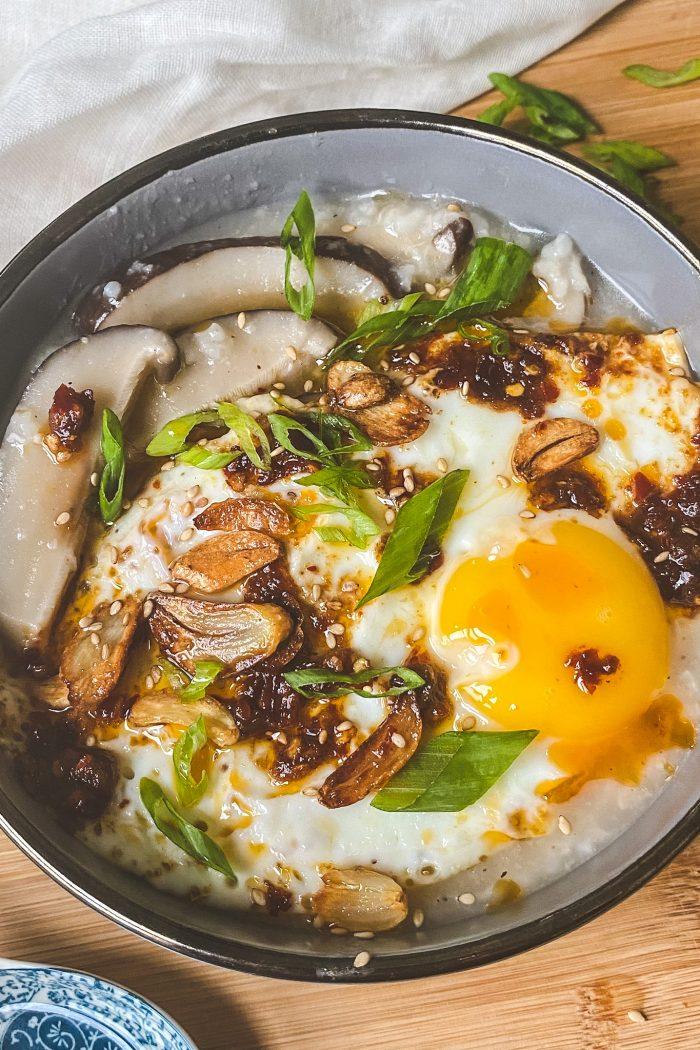 Easy Mushroom Congee/Rice Porridge
