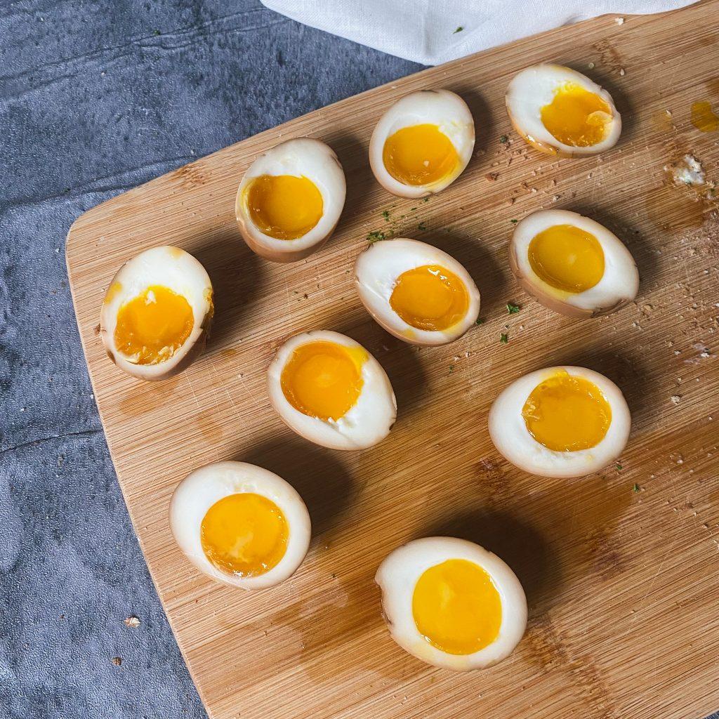 non alcoholic no mirin ramen egg soy sauce marinated jammy ramen egg