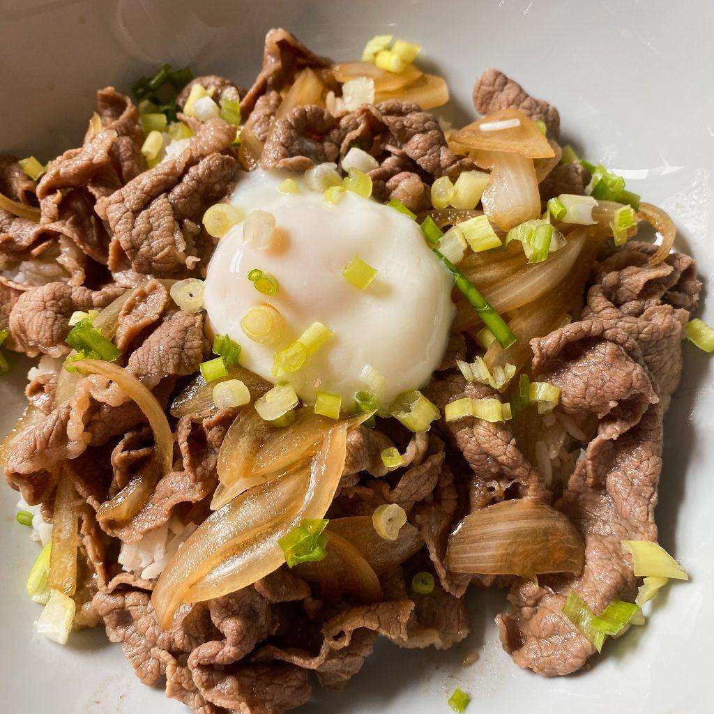 japanese beef rice bowl gyudon halal no mirin no sake no alcohol